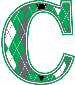 Green-Argyle-Wall-Letter-C